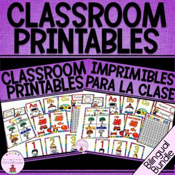 Classroom Printables Bilingual Bundle