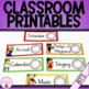 Classroom Printables in English