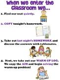 Classroom Procedure Anchor Chart