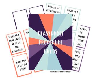 Classroom Procedure Cards