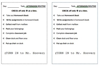 Classroom Procedure Checklist