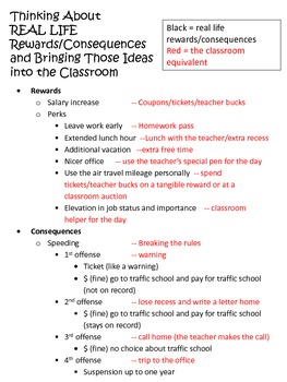 Classroom Procedure Checklist - First Day of School