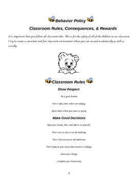 Classroom Procedure Handbook