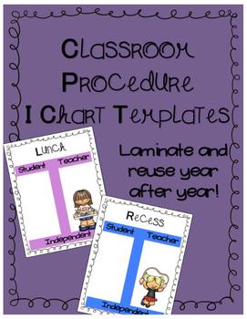 Classroom Procedure I Charts-Solid Colors