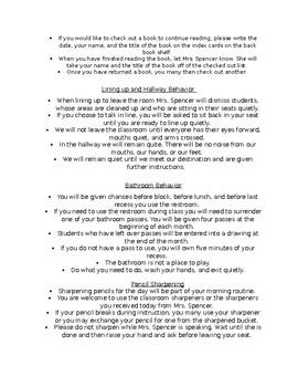 Classroom Procedure Introductions