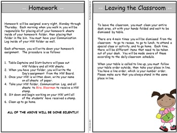 Classroom Procedure Manual for Students {EDITABLE}