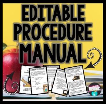 Classroom Procedure Manual for Students {EDITABLE}