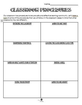 Classroom Procedure Notes