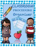 Classroom Procedure Organizer