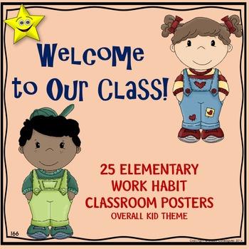 Classroom Procedures Posters, Kid Theme