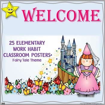 Classroom Procedures Posters, Fairy Tale Theme