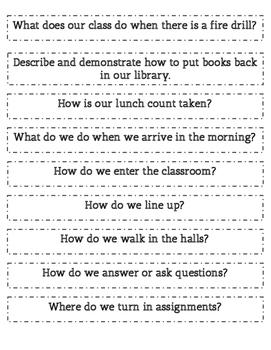 Classroom Procedure Practice