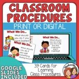 Classroom Procedure Task Cards - Back to School or Reviewi