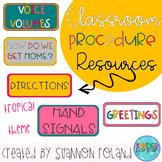 Classroom Procedure Visuals-tropical