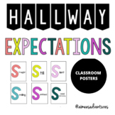 Classroom Procedure Visuals | Hallway Expectations