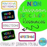 Classroom Procedure Visuals NEON