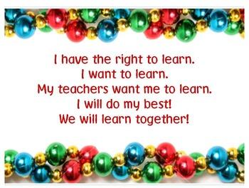 Classroom Procedures Posters - Christmas Theme