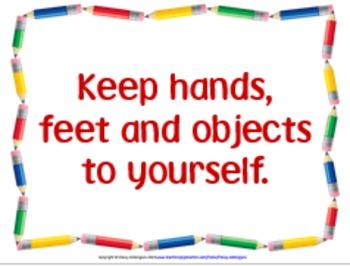 Classroom Procedures Posters, Pencil Design