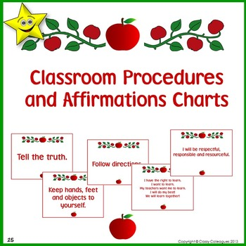 Classroom Procedures Posters, Apple Design
