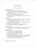 Classroom Procedures 1