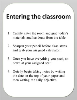 Classroom Procedures: 10 Important Procedures for Middle and High School Classes