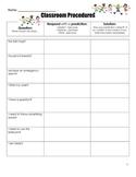 Classroom Procedures (Anticipatory Set/Management)