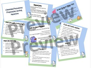 Classroom Procedures Bundle