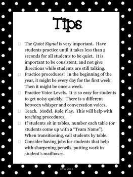 Classroom Procedures Checklist