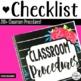 Classroom Procedures Checklist for Back to School- (200+ P