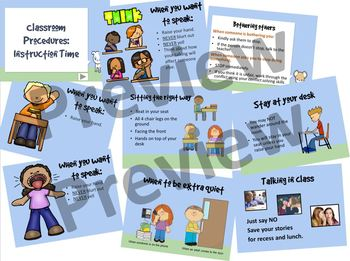 Classroom Procedures: Classroom Instruction; sitting, talking, blurting...