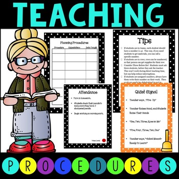 Classroom Management Routines and Procedures - Editable