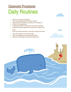 Classroom Procedures - Daily Routines
