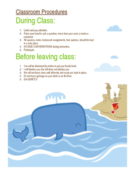 Classroom Procedures - During and After Class