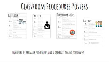 Classroom Procedures Posters EDITABLE