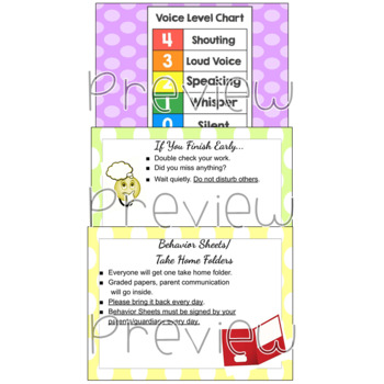 Classroom Procedures Editable
