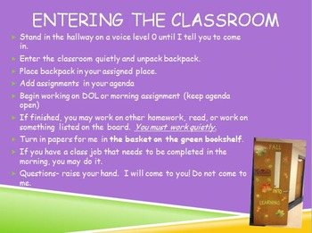 Classroom Procedures & Expectations PowerPoint