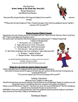 Classroom  Procedures, Expectations, and Routines