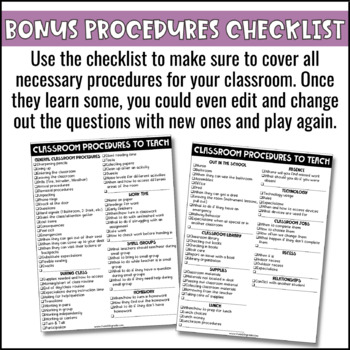 Classroom Procedures Game Show EDITABLE PowerPoint for Back to School