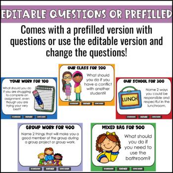 Classroom Procedures Game Show | Back to School Activity | EDITABLE PowerPoint