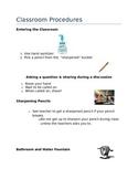 Classroom Management & Procedures Guide