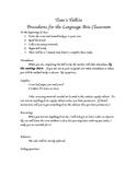 Classroom Procedures Handout