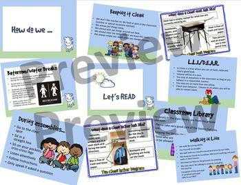 Classroom Procedures: How do we--Water/Restroom breaks, walking in line, etc.
