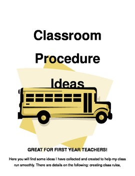 Classroom Procedures Ideas