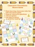 Classroom Procedures Interactive Board Game