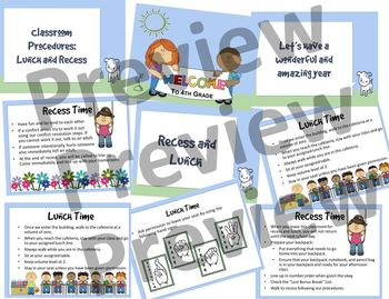 Classroom Procedures: Lunch and Recess