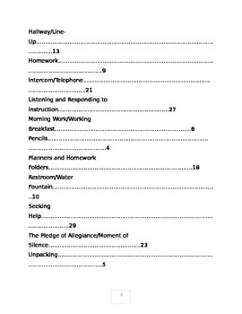 Classroom Procedures Manual