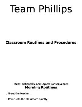 Classroom Procedures Manual (PBIS)