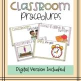 Classroom Procedures | Middle School | Editable