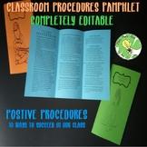 Classroom Procedures Pamphlet