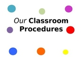 Classroom Procedures Power Point